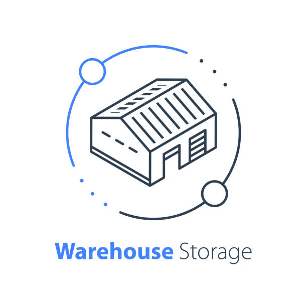 Warehouse services, distribution center, wholesale concept, supply chain