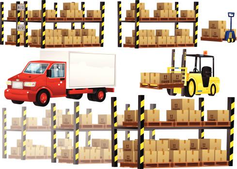 Warehouse shelving and transportation