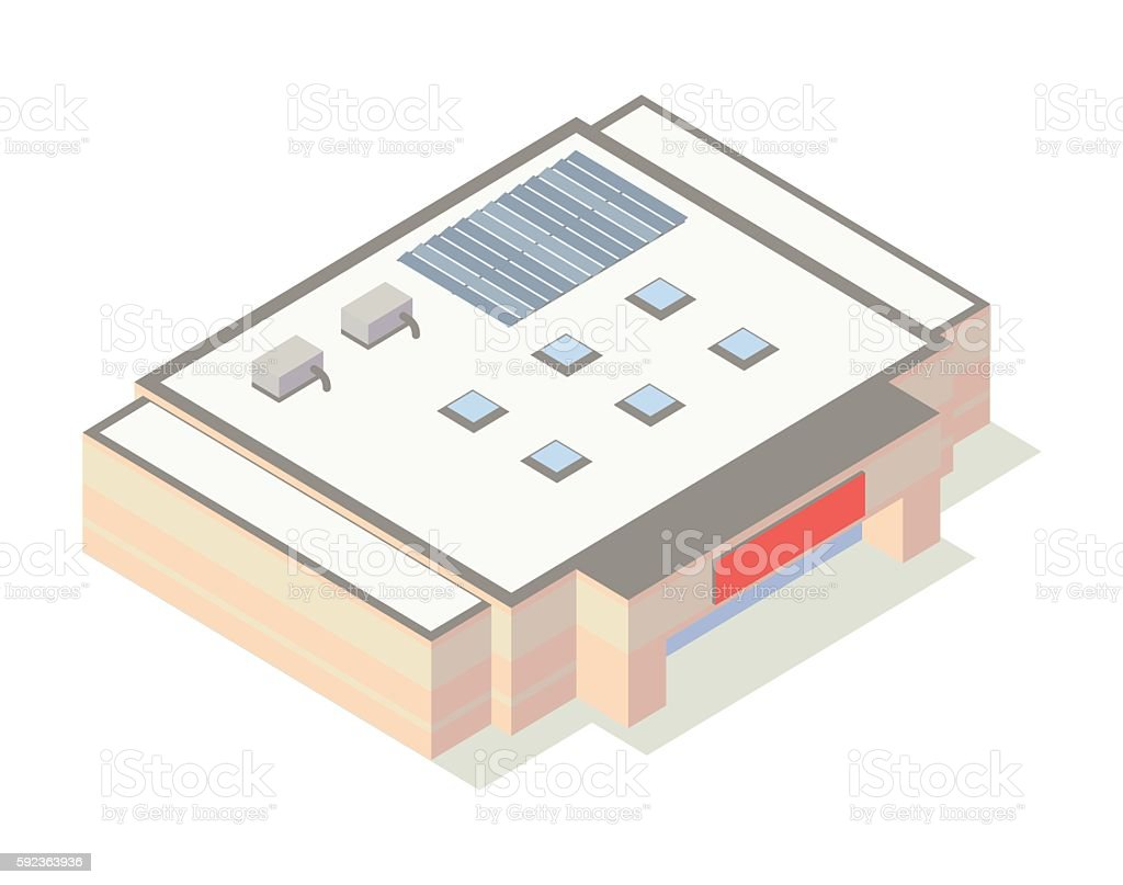 Warehouse store isometric illustration vector art illustration