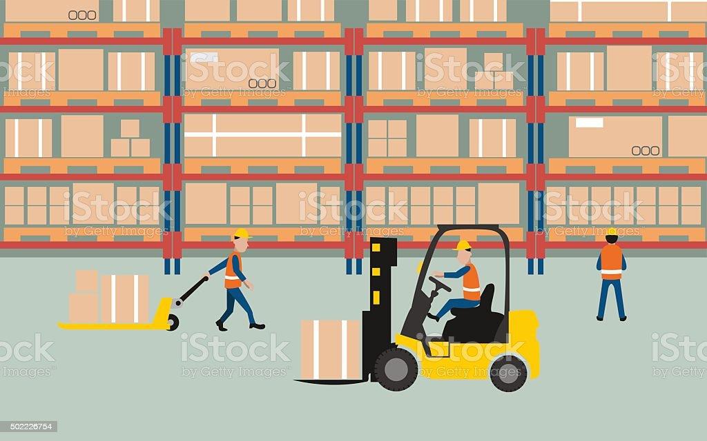 wareHouse vector art illustration