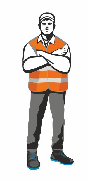 stockillustraties, clipart, cartoons en iconen met magazijnmedewerker - warehouse worker
