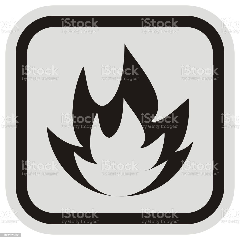 waring sign, ban, fire hazard vector art illustration