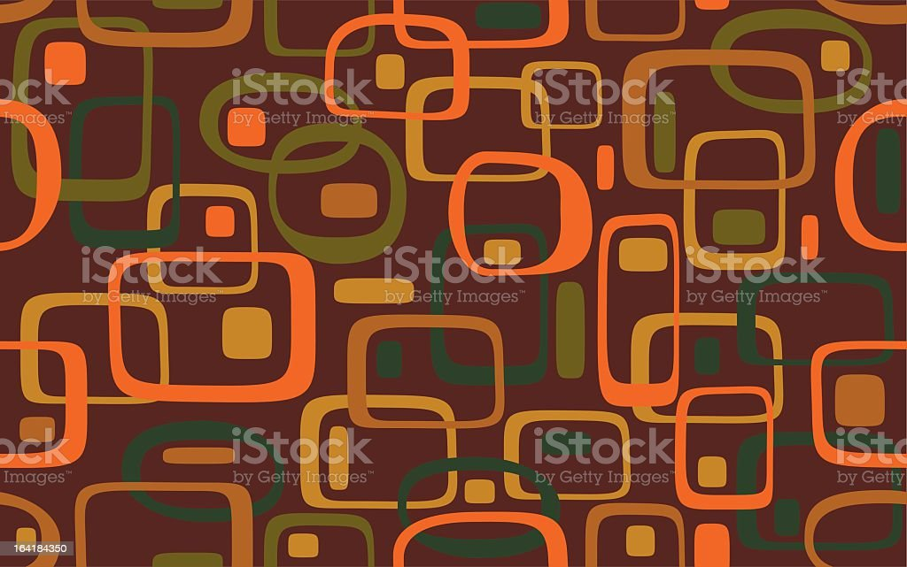 Warm and colorful retro decoration pattern vector art illustration