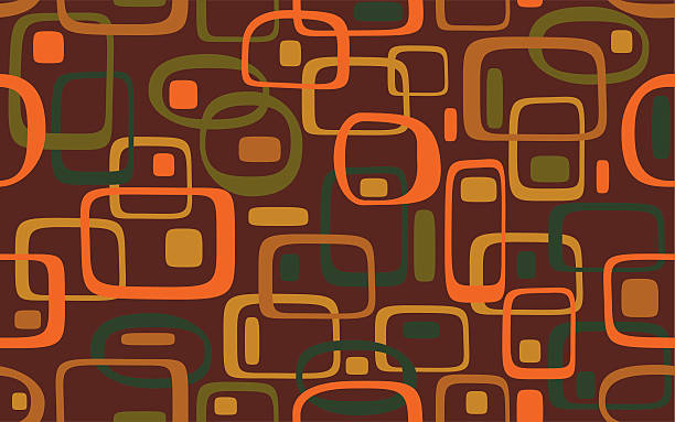 Warm and colorful retro decoration pattern