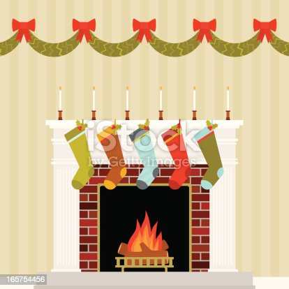 istock Warm and Festive Christmas Mantle 165754456