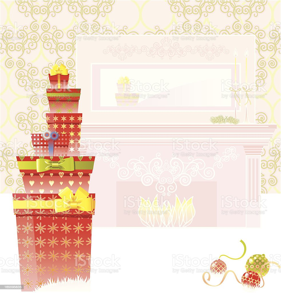 Warm Christmas time royalty-free warm christmas time stock vector art & more images of box - container