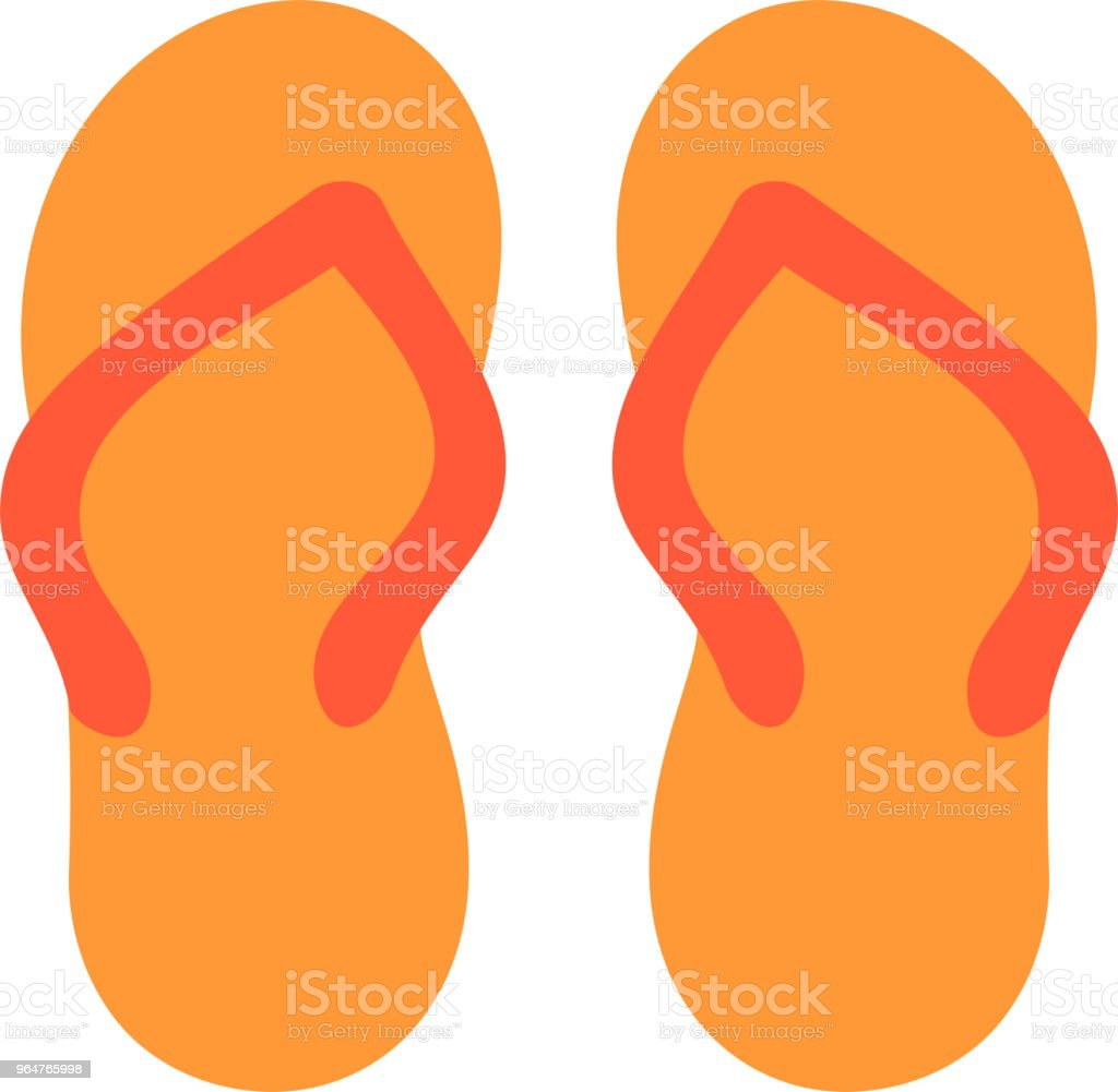 Warm color Beach sandal illustration royalty-free warm color beach sandal illustration stock vector art & more images of august