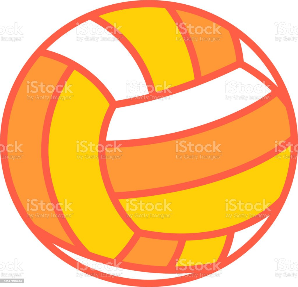 Warm color Beach volleyball illustration royalty-free warm color beach volleyball illustration stock vector art & more images of august