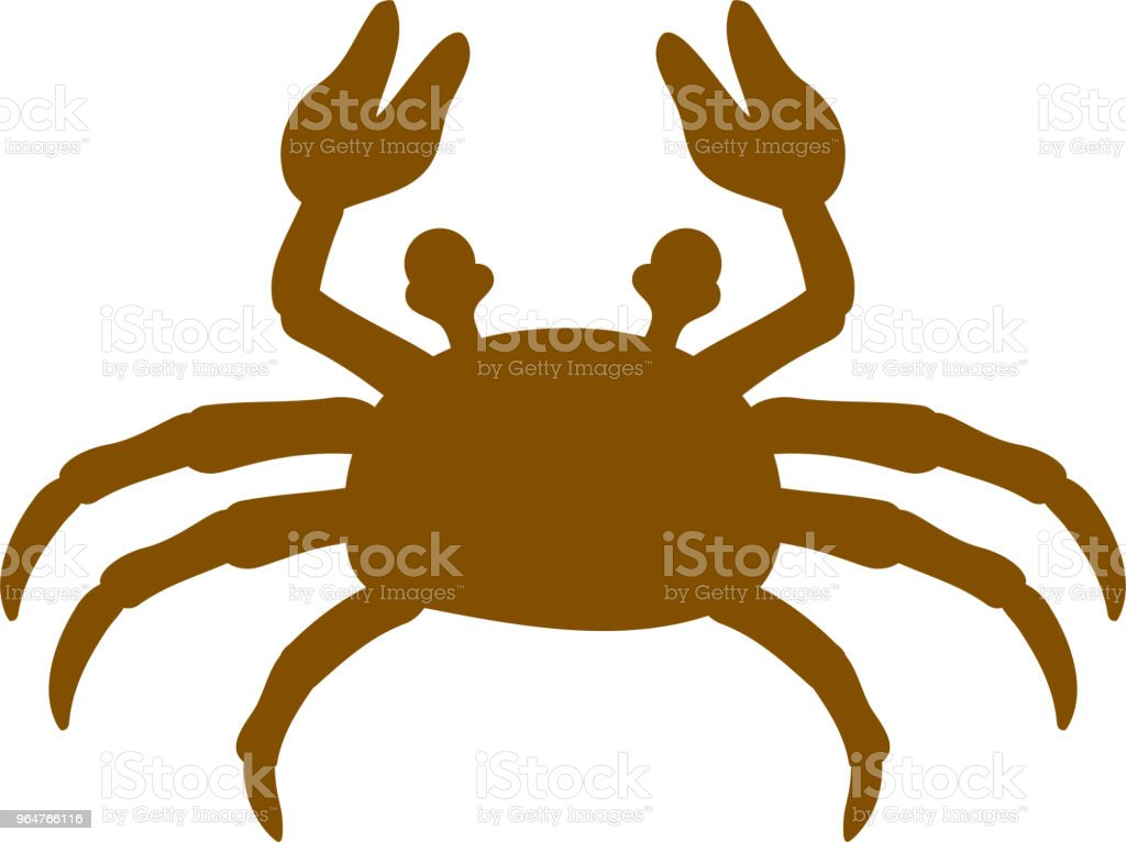 Warm color Real crab illustration royalty-free warm color real crab illustration stock illustration - download image now