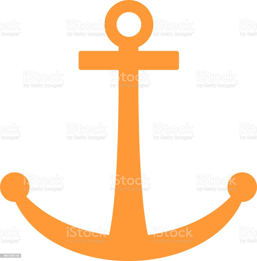 Warm color Sea anchor illustration royalty-free warm color sea anchor illustration stock vector art & more images of anchor - athlete
