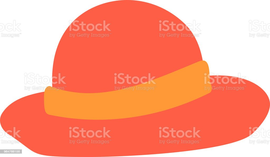 Warm color Summer Straw Hat illustration royalty-free warm color summer straw hat illustration stock vector art & more images of august