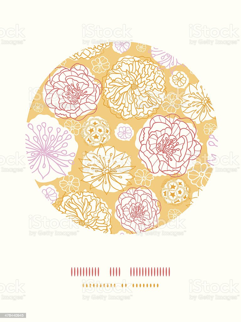 Warm day flowers circle decor pattern background royalty-free stock vector art