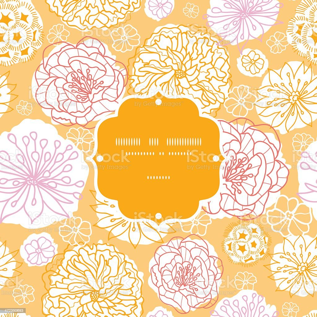 Warm day flowers frame seamless pattern background royalty-free warm day flowers frame seamless pattern background stock vector art & more images of abstract