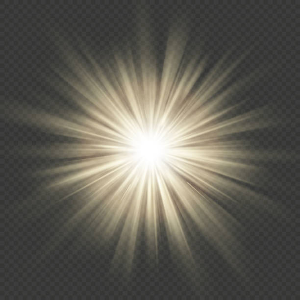 Warm glow star burst flare explosion transparent light effect. EPS 10 Warm glow star burst flare explosion transparent light effect. EPS 10 vector file exploding stock illustrations