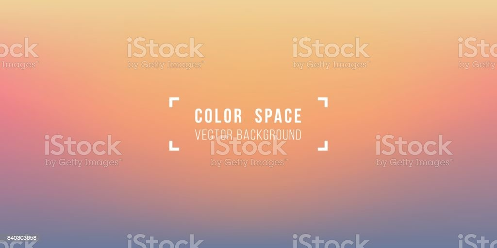 Warm Horizon Soft Color Space Defocus Smooth Gradient Background vector art illustration
