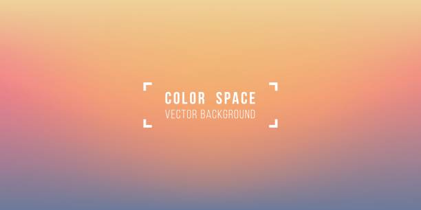 warm horizon soft color space defocus smooth gradient background - zachód słońca stock illustrations