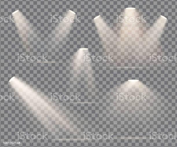 Warm Light Set Of Bulb On A Transparent Background - Arte vetorial de stock e mais imagens de Abstrato