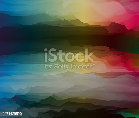 warm meets cool color gradient chaos pattern background