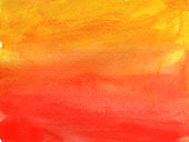 painted orange red gradient watercolor brush strokes background