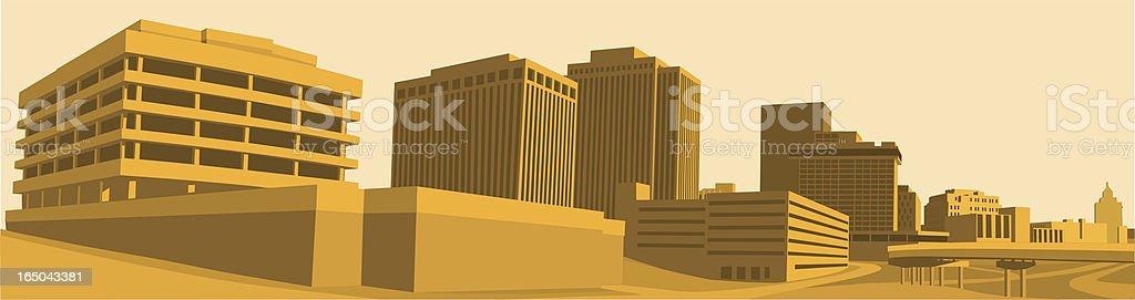 Warm Skyline vector art illustration