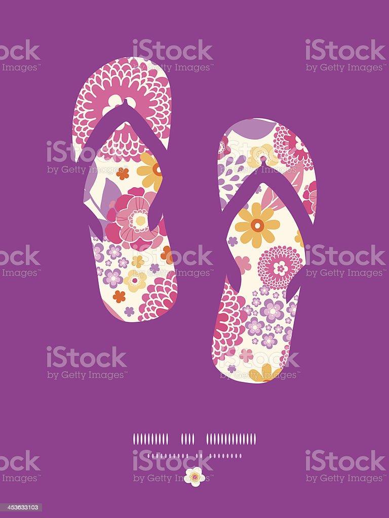 4539284fbee2 Warm summer plants flip flops pattern background royalty-free warm summer  plants flip flops pattern