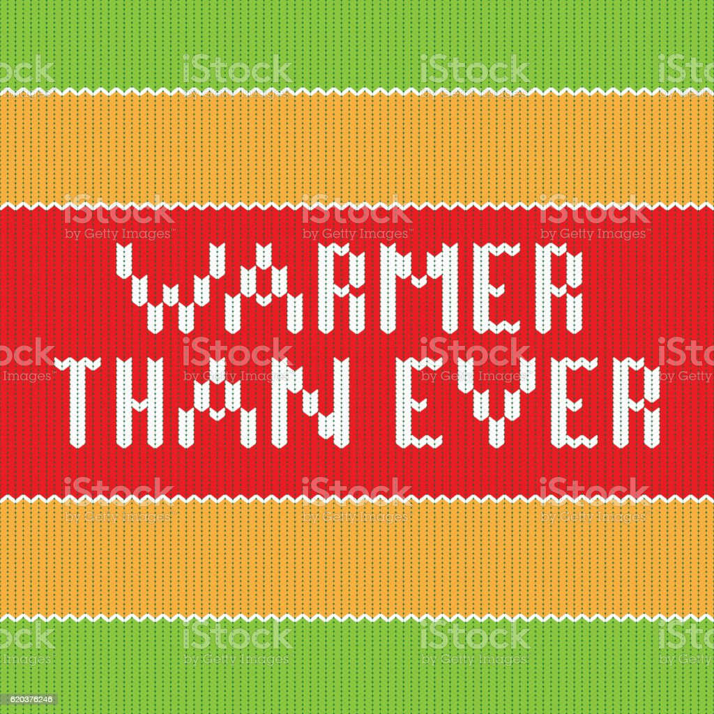 Warmer than ever. Knitted lettering warmer than ever knitted lettering - arte vetorial de stock e mais imagens de abstrato royalty-free