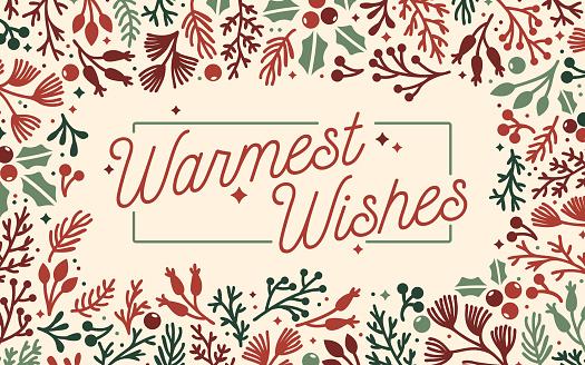 Warmest Wishes Holiday Frame Background