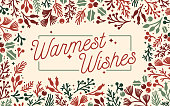istock Warmest Wishes Holiday Frame Background 1284752377