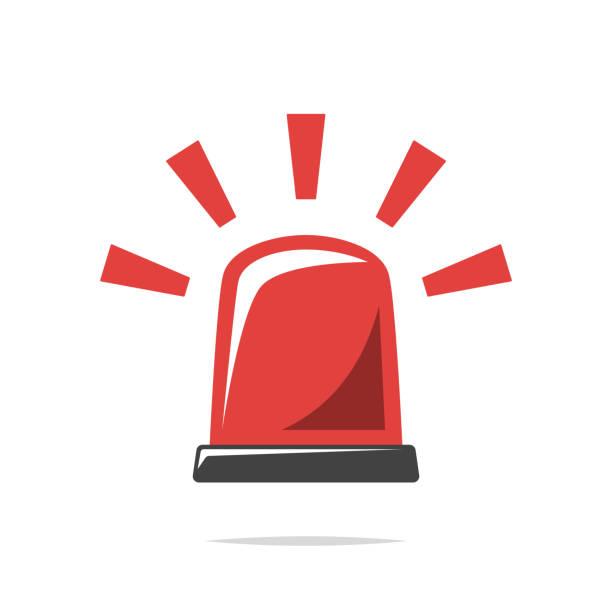 Warning alarm light vector isolated Vector element alertness stock illustrations