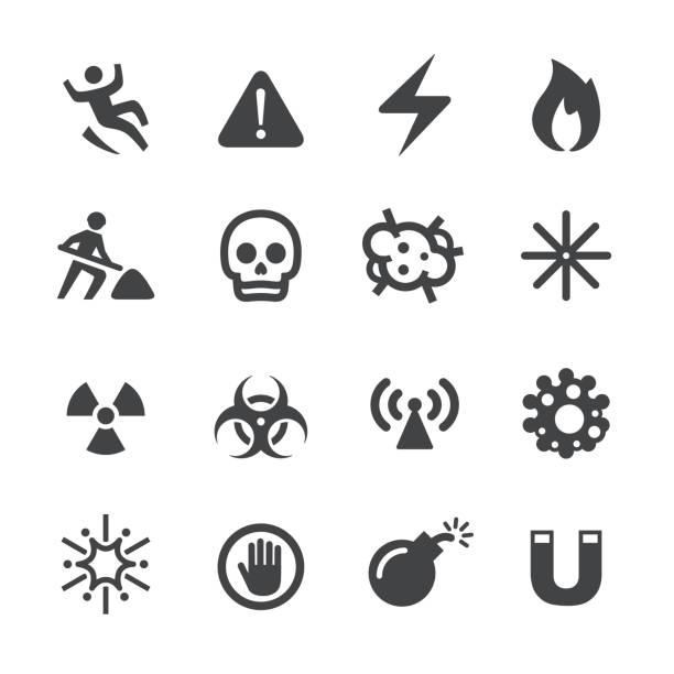 warnung und hazard ikonen - acme-serie - feuer stock-grafiken, -clipart, -cartoons und -symbole