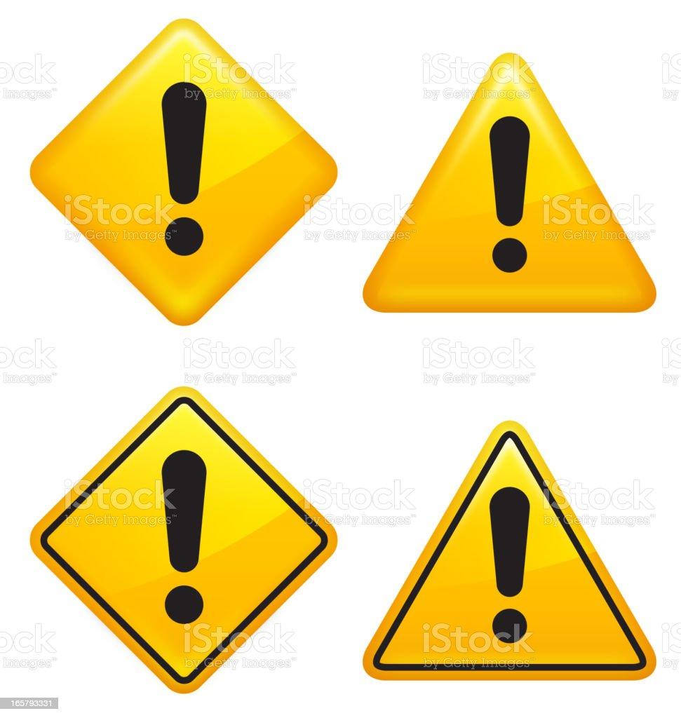Warning attention caution Street Signs vector art illustration