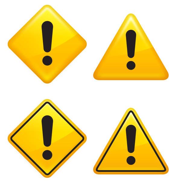 warning attention caution street signs - attention stock illustrations, clip art, cartoons, & icons