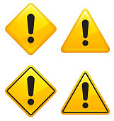 Warning attention caution Street Signs