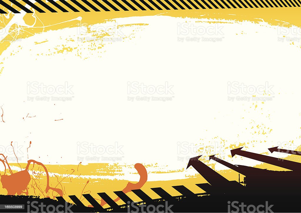 Warning background royalty-free stock vector art