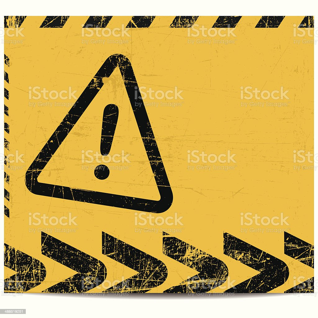 Warning banner vector art illustration