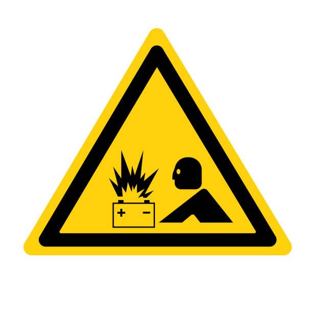 Warning Battery Flash ARC Hazard Symbol Sign ,Vector Illustration, Isolate On White Background Label. EPS10 vector art illustration