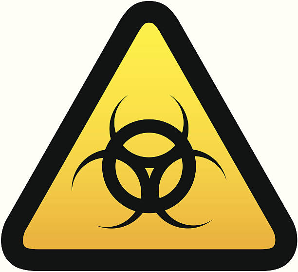 Royalty Free Biochemical Weapon Biohazard Symbol Hazardous Area Sign