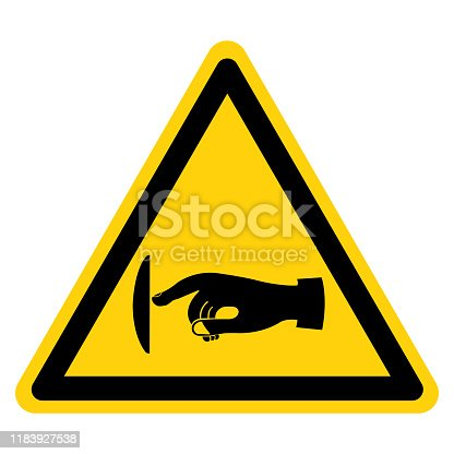 Warning Do Not Touch Symbol Sign, Vector Illustration, Isolate On White Background Label .EPS10