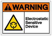 Warning Electrostatic Sensitive Device (ESD) Symbol Sign, Vector Illustration, Isolate On White Background Label .EPS10