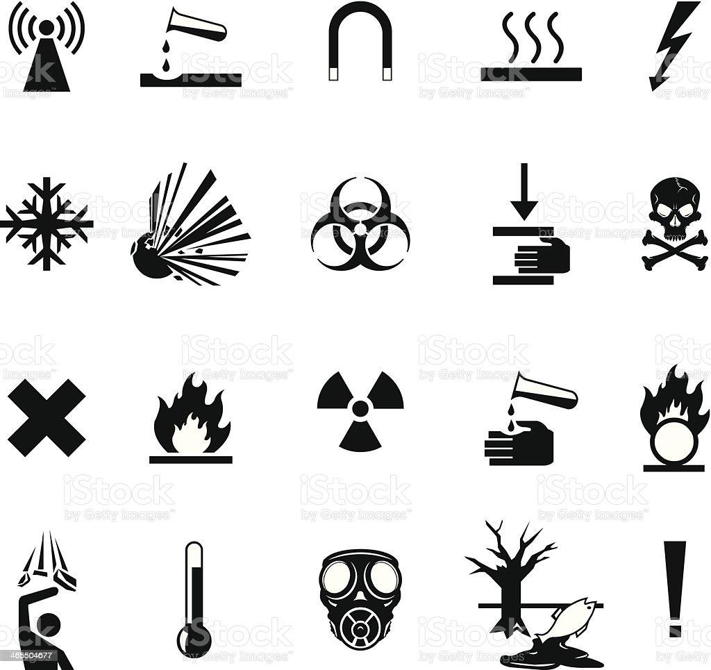 Warning Hazard Icon Set royalty-free stock vector art