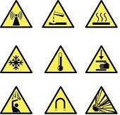 Warning Hazard Icons
