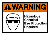 Warning Hazardous Chemical Eye Protection Required Symbol Sign, Vector Illustration, Isolate On White Background Label. EPS10