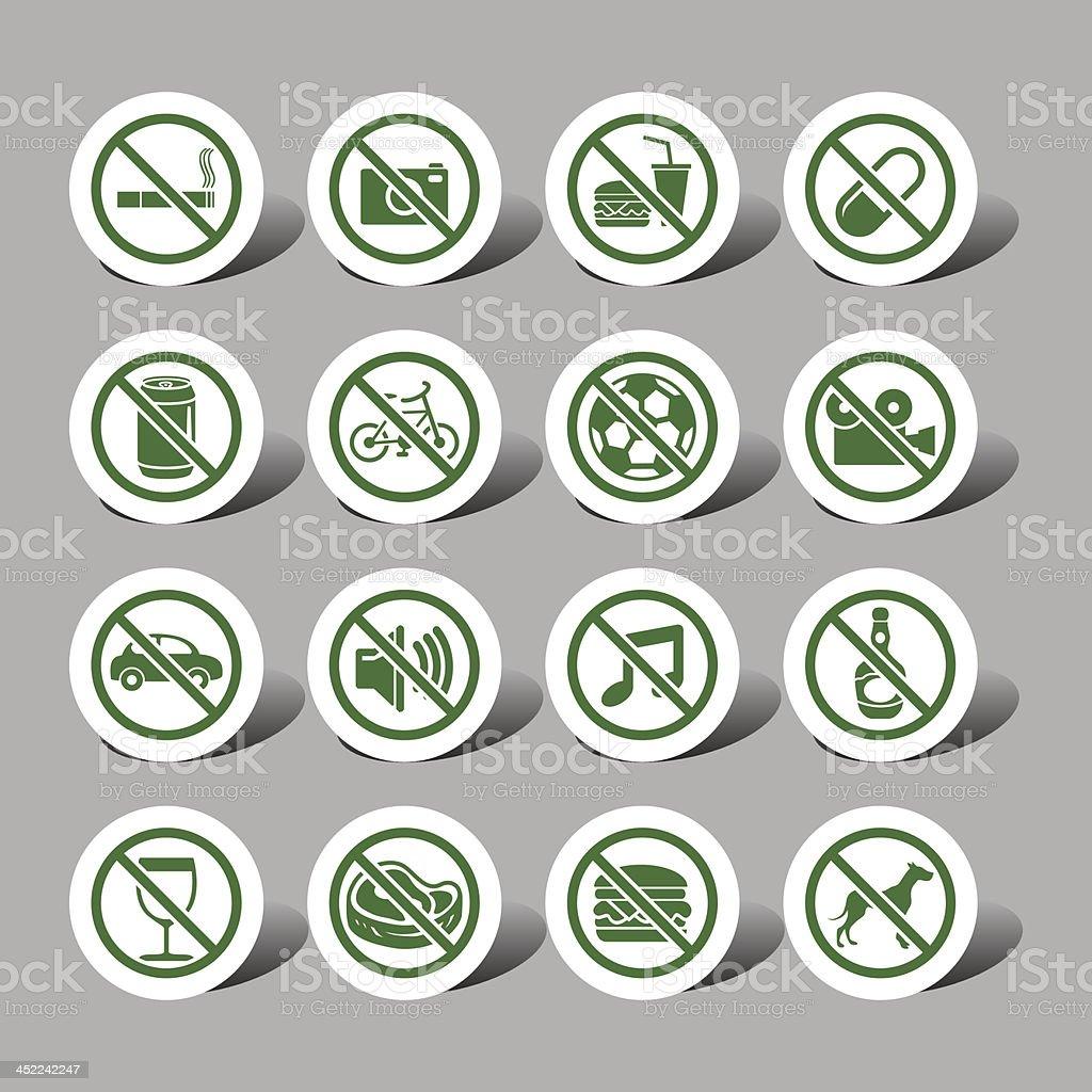 Warning interface icons vector art illustration