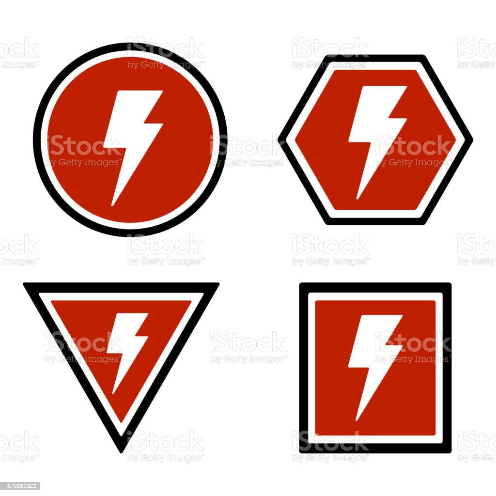 21 Lightning Bolt Warnzeichen Stock Vektor Art und mehr Bilder von ...