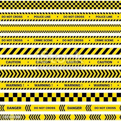 istock Warning Line police vector design 1331431368
