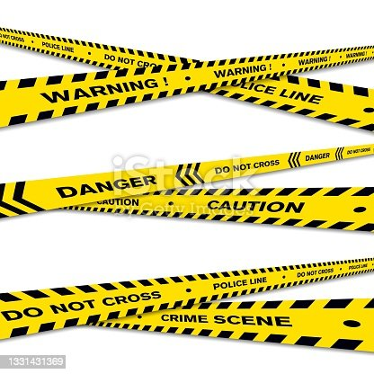 istock Warning Line police vector design 1331431369