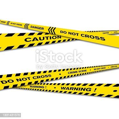 istock Warning Line police vector design 1331431370