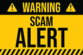 istock Warning of Scam Alert. COVID-19 outbreak influenza as dangerous flu strain cases as a pandemic concept banner flat style illustration stock illustration 1220766627