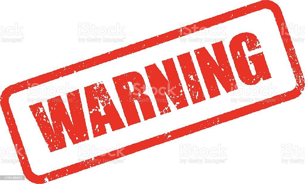Warning Rubber Stamp Ink Imprint Icon (Transparent Background) vector art illustration