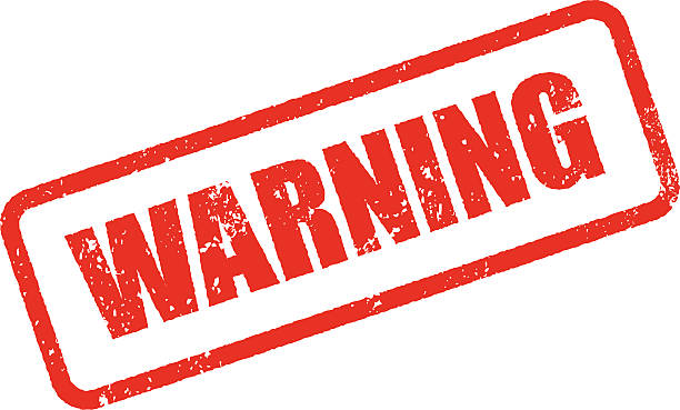 Warning Rubber Stamp Ink Imprint Icon (Transparent Background) A weathered, grungy rubber stamp ink imprint in red. Easily place this stamp into your design as there is no background color (white). Objects will show through the grunge texture punched out of the stamp. Download includes a high resolution RGB JPEG as well as an editable AI10 vector EPS. warning symbol stock illustrations